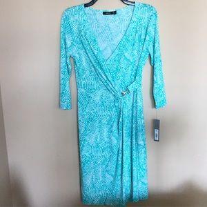 NWT Blue Wrap Dress