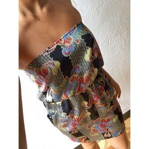 Paisley Strapless Dress
