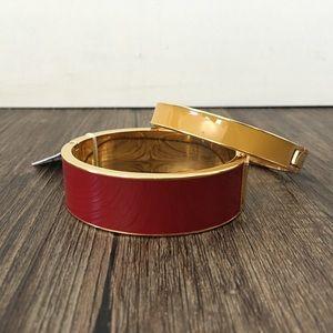J.Crew red enamel bracelet
