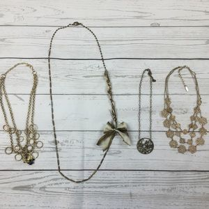 Jewelry - Lot of 4 Gold Inspired Necklaces