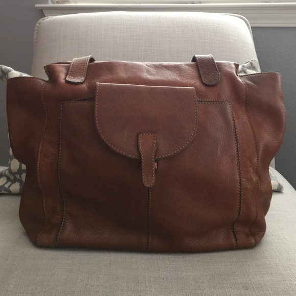 Vintage Massimo Dutti leather bag Cognac color. M 5787f54fea3f36da2300b066 443f6c7a077e4