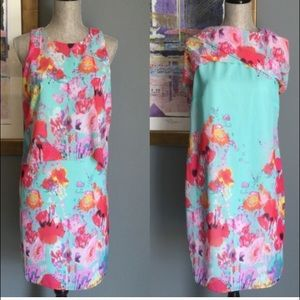Gorgeous turquoise floral dress