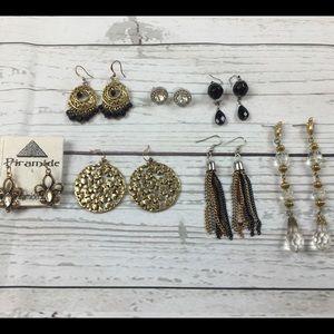 Jewelry - Lot of 7 Fashion Earrings