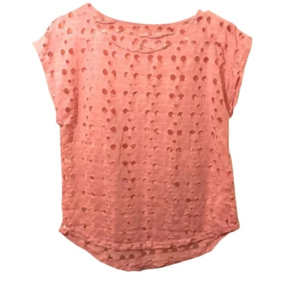 53% off Tops - Salmon pink t-shirt from Madi's closet on Poshmark