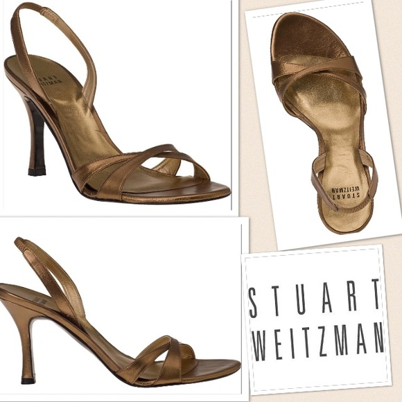 68929c4932ae Stuart Weitzman Shoes | Bronze Delovely Kid Heels 85 298 | Poshmark