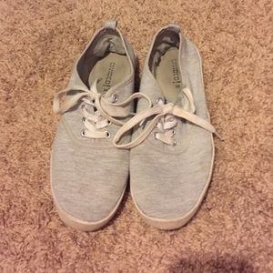 *5 for $20* Gray canvas shoes