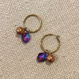 "Emily Ray Jewelry - EMILY RAY ""Hoopla"" Hoop Earrings & 2 charm sets"