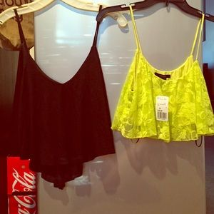 Sale!  2 size small crop tops !