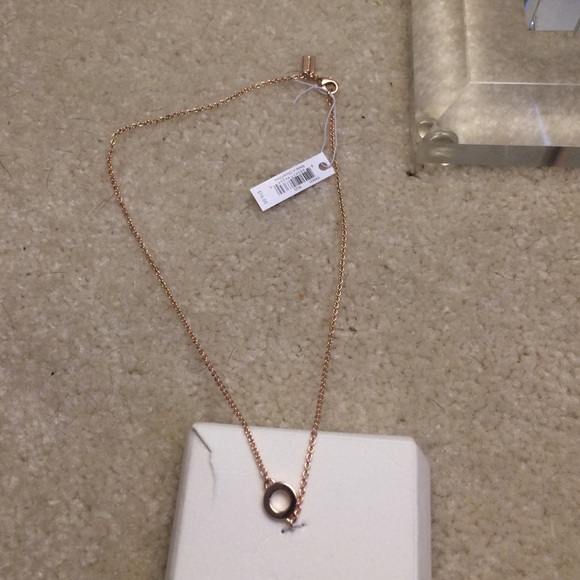 68 off Coach Jewelry Coach Rose Gold Chain Necklace from