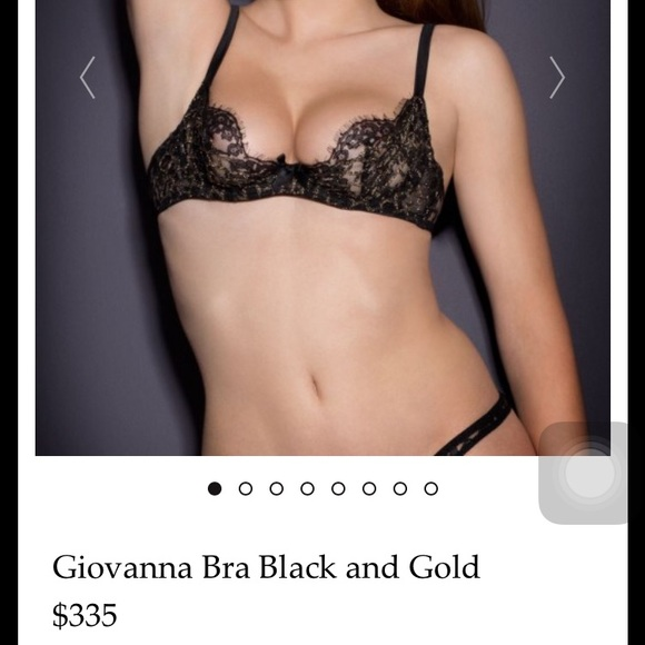 Agent provocateur black and gold bra 34DD 637eb1414