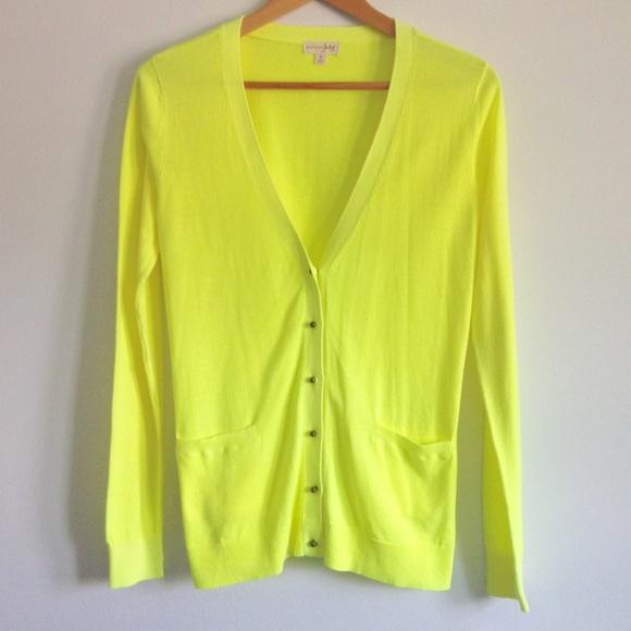 78% off Maison Jules Sweaters - Maison Jules Neon Yellow Cardigan ...