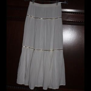 Monsoon Other - White Cotton 3 Tiered Skirt accented with sequins