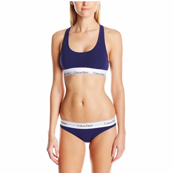 6e57764d397 Calvin Klein navy blue bralette and bikini set