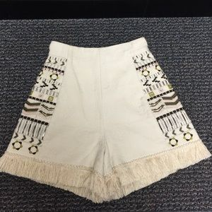 New French Connection beaded & embroidered Short