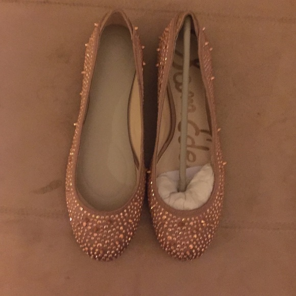 Sam Edelman Shoes Rose Gold Flats Covered With Small Studs Poshmark
