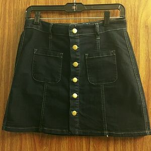 Rebel by Right Dresses & Skirts - Button Down Dark Denim Mini