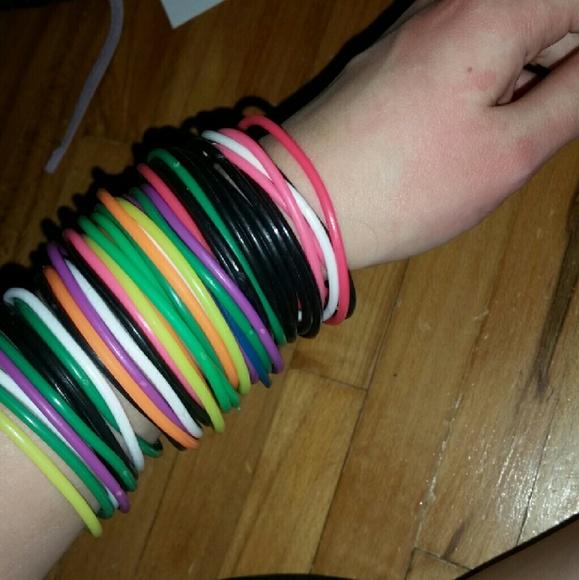 Hot Topic Jewelry Thin Rubber Bracelets Poshmark
