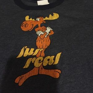 Tops - Rocky and Bullwinkle tshirt