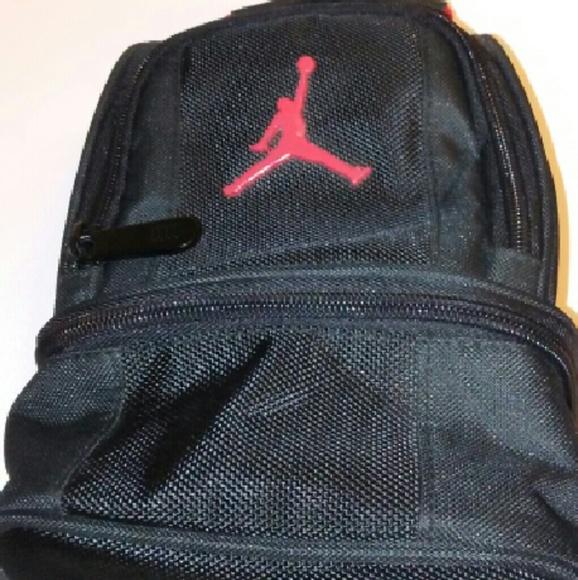 ebf49a5264caa3 Jordan Handbags - Jordan black and red small lunch box