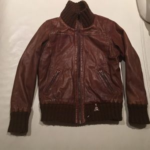 Scotch R'Belle Other - Scotch R'Belle 100% leather brown jacket for 8y