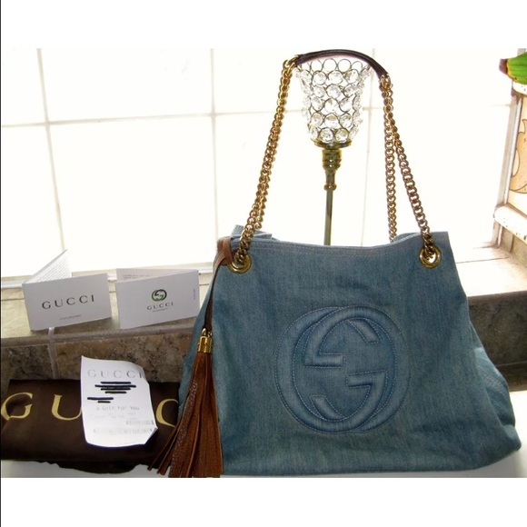 5c454f635d3f67 Gucci Bags   Soho Denim Medium Chain Bag   Poshmark