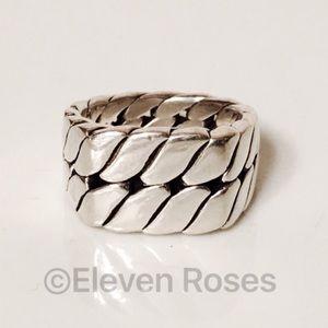David Yurman Other - David Yurman Wide Sterling Signet Curb Chain Ring
