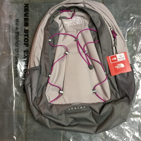 a3591ce94 North face jester Backpack new Pache grey and pink NWT