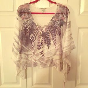 Feather Crop Top