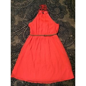 ZARA Trafaluc Coral Dress!