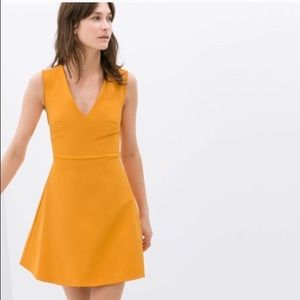 Zara fit and flare cut out dress
