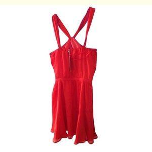 Isabel Lu Orange Cross Strap Swing Dress XS