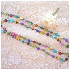 Long Colorful Beaded Necklace