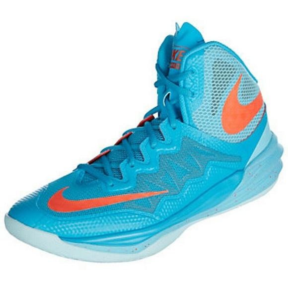 Nike Men's Prime Hype DF 2 Blue Orange High Top Size 9.5