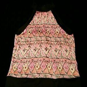 Tops - Printed Sleeveless Blouse