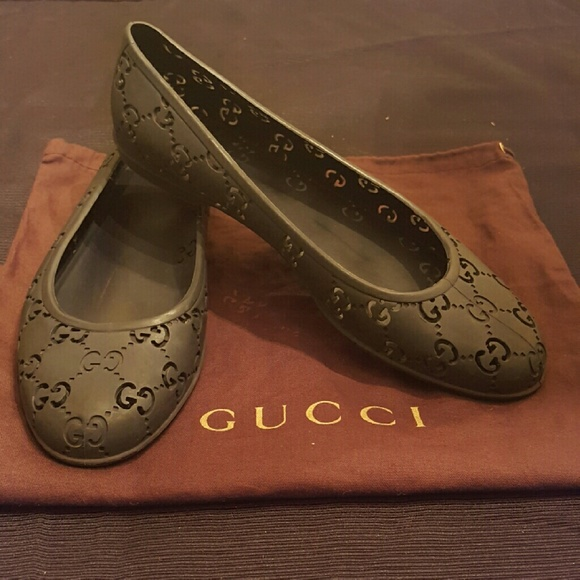 a706ad7a3 Gucci Shoes - Gucci GG Rubber Ballet Flat