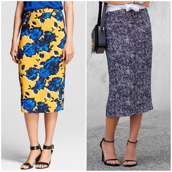 who what wear nwot who what wear midi pencil skirt for