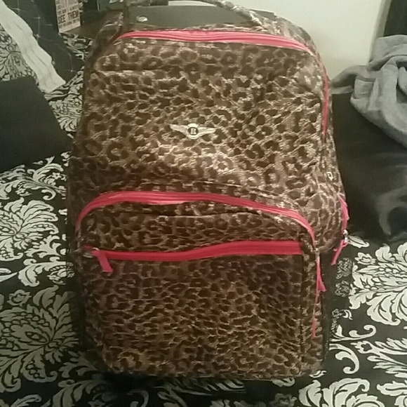 55% off Other - Cheetah print rolling backpack from Sidney's ...