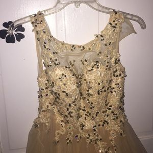 Semi formal/holly ball dress in champagne