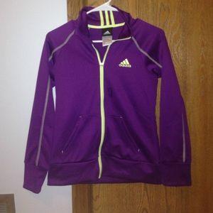 Adidas climalite Adidas climalite zip Hoodie sweatshirt-purple purple XEDyhjCHdq