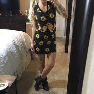 Kendall & Kylie Sunflower Cutout Dress