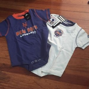 Adidas Other - Baby 6-9 month Adidas Mets onesies