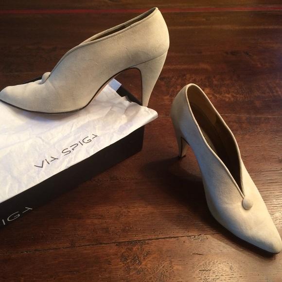Via Spiga Cream Suede Shoes 3 2 Heel