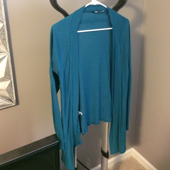 Express Sweaters - Express open teal cardigan