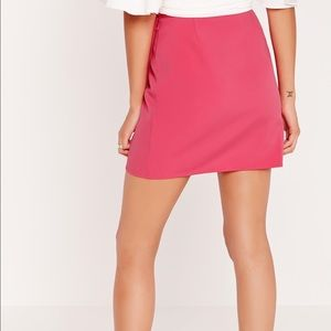 2ccbbc056a Missguided Skirts - Missguided High Waisted Wrap Skirt in Pink