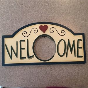 Other - Welcome sign with seasonal hang tags.