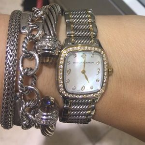 original david yurman watch with diamonds