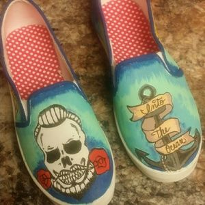 Shoes - Blue October Into the Ocean custom shoe