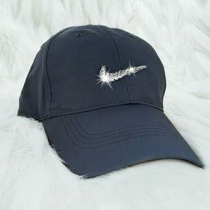 Nike Accessories - Swarovski Bling Nike Swoosh Legacy Tech Golf Cap f472767a49ed