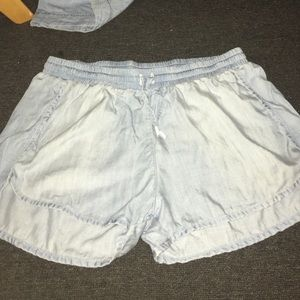 Denim Jogger Shorts