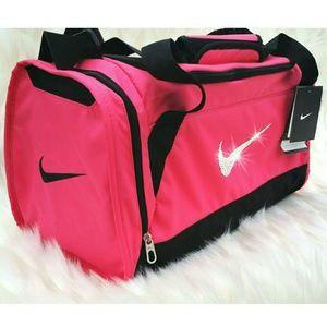 Nike Bags - Swarovski Bling Nike Brasilia 6 Duffel Gym Bag 17e24620cdd24